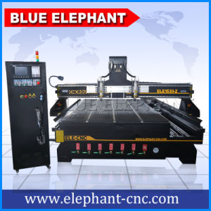 Multi Head Engraving CNC Wooden Machine with 4th Axis, Doors Wood Machine pictures & photos