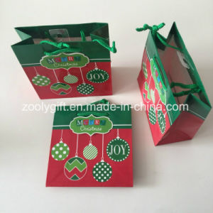 Mini Christmas Printing Paper Gift Bag pictures & photos