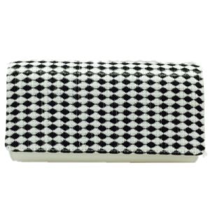 White Party Bag Check Fashion Evening Bag Woven clutch pictures & photos