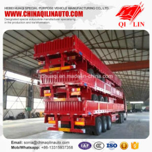 3 Axles 50 Tons Cargo Fence Semi Trailer with Detachable Wall pictures & photos
