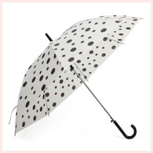 Auto Open DOT Printing White Straight Umbrella (BD-69) pictures & photos