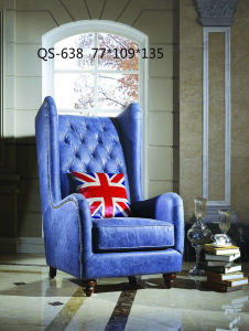 British Style High Back Leather Sofa Chair pictures & photos