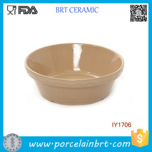 Earthy Yellow Ceramic Bowl Pet Accessories Wholesale pictures & photos