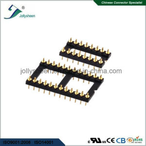 IC Socket Round Pin 180deg Straight DIP Type with Bar pictures & photos