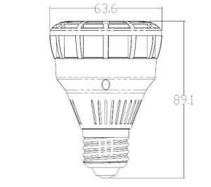 E26 E27 25W PAR20 LED Spot Light with Osram 12PCS Ssl LED CRI 82 pictures & photos