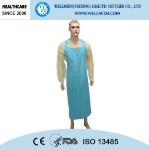 Disposable LDPE/HDPE Printed Aprons for Hospital pictures & photos