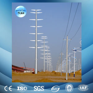 Hot-DIP Galvanized 110kv Monopole Transmission Tower pictures & photos