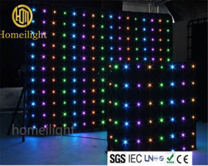 Fireproof Velvet P18 LED Vision Curtain RGB Video Curtain for DJ Booth Disco Club Stage Show pictures & photos