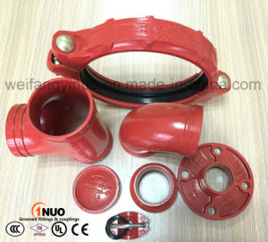 "High Quality Ductile Irongrooved Mechanical Tee (FM/UL) 4""*2"" pictures & photos"