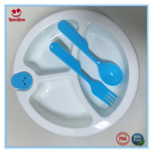 3 Division Insulation Baby Cutlery Set pictures & photos