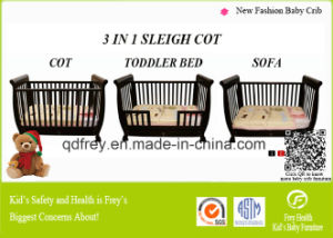 AS/NZS Safety Wooden Baby Cot with Changing Table pictures & photos