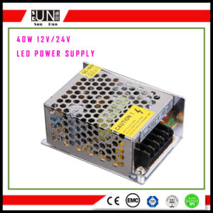 40W 5V 12V 24V LED Power Supply, aluminum Power Supply 40W, Constant Voltage DC12V 24V, 40W Switching Power Supply pictures & photos
