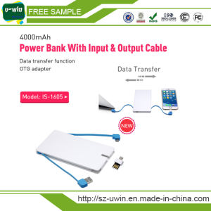 Power Bank with Input & Output Cable iPhone Adaptor, OTG USB Flash Drive pictures & photos