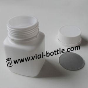 HDPE Square Medical Bottles 50cc Screw White Plastic Tamper Evident Caps pictures & photos