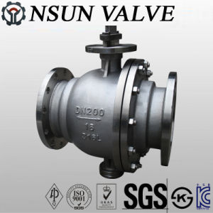 DIN Stainless Steel Flanged Fixed Ball Valve