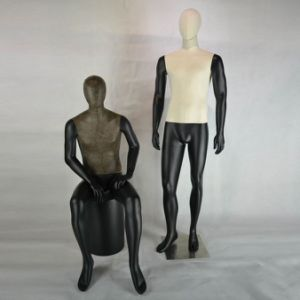 Vintage Male Mannequin with Fabric / Leather Wrapped pictures & photos