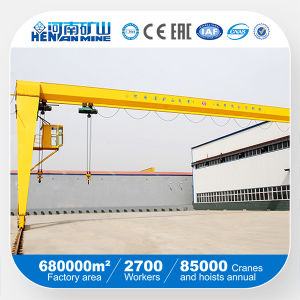 Single Girder Semi Gantry Crane with Best Price (BMH Model) pictures & photos