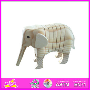 2014 New Wooden Animal Kids Paint Set, Wooden DIY Kids Paint Toy, Hot Sale Elephant Style Kids Paint Kit W03A036 pictures & photos