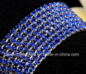 Rhinestone Chain in Brass Clear Rhinestones Brass Trim (TCS-ss10 sapphire) pictures & photos