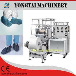 Disposable Elastic Ankle Cuff Polyethylene Cross-Linked Shoe Cover Machine pictures & photos