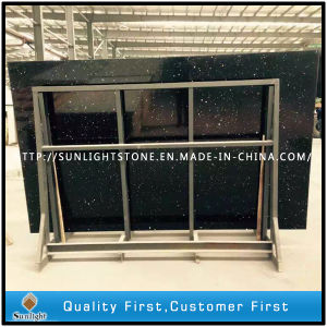 Artificial Marble Black Artificial Stone Quartz Slabs for Countertops pictures & photos