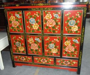 Antique Furniture Chinese Wooden Painted Cabinet Lwb718 pictures & photos