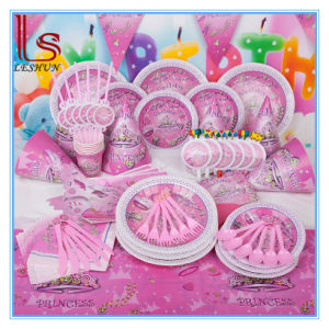Birthday Party Supplies Fantasy Girl Princess Set Children Pink Theme Birthday Party Products pictures & photos