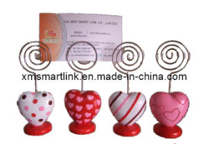 Valentine′s Heart Clip Holder, Metal Message Clip, Business Card Holder pictures & photos