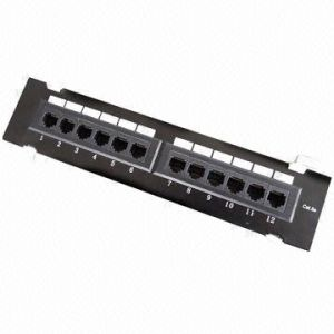 UTP 12 Port Cat5e Patch Panel pictures & photos
