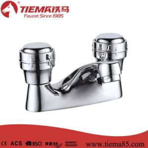 New Design Two Handle Basin Faucet with Chrome Finish (ZS2106)