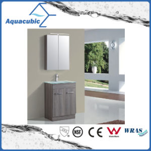 Floor-Mounted Vanity in Oak with Glass Basin (ACF8879B) pictures & photos