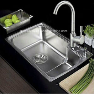 SUS 304/201 Stainless Steel Handmade Kitchen Sink (QW-7245) pictures & photos