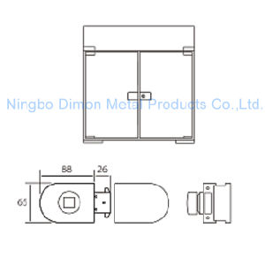 Dimon Sliding Glass Door Lock Double Door Single Cylinder Central Lock (DM-DS 65-8A) pictures & photos