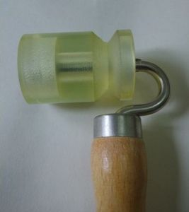 Wallpaper Roller for External Corner (PU roller, wooden handle)