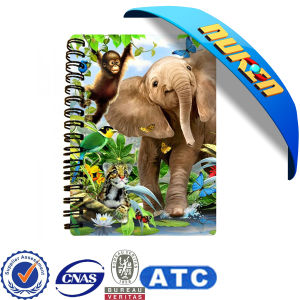 New Design 3 D Lenticular Spiral Notebook pictures & photos