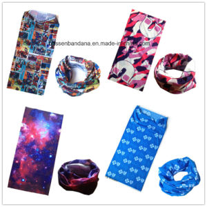 Factory OEM Produce Custom Design Printed Polyester Microfiber Multi Functional Face Mask pictures & photos