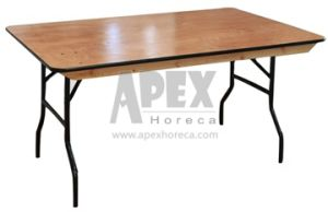 Wood Folding Rectangular Table Event Furniture pictures & photos
