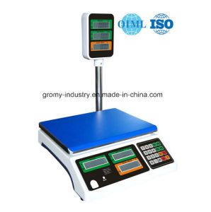 Electronic Digital Price Computing Scale with Pole Display 30kg pictures & photos