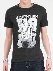 Top Quality Newest Design Screen Print Cotton Fashion Men′s T Shirt