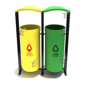 Plastic Wood/Stainless Steel/Aluminum Trash Can Supplier (TEL0463)