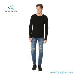 100% Cotton Distressed Holes Motorcycle Men Skinny Denim Jeans (Pants E. P. 4010) pictures & photos