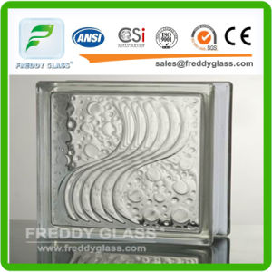190*190*80mm Sea Wave Glass Block/Glass Brick pictures & photos