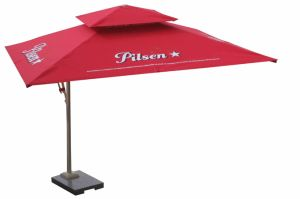 Outdoor Garden Hotel Patio Aluminum Side Pool Umbrella Parasol with UV Protected Canvas Waterproof Fabric (U783) pictures & photos