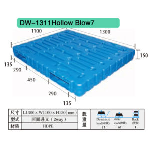 Hollow Blow Plastic Pallet Dw-1311 pictures & photos