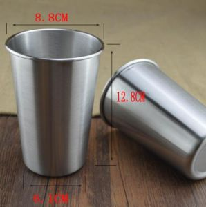 18-8 Stainless Steel Single Wall Beer and Water Cup 480ml (JX-074) pictures & photos