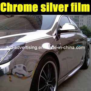 Chrome Silver Car Body Sticker with Air Free Bubbles