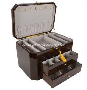 High Gloss Piano Finish Jewelry Packaging Box W/2 Drawers pictures & photos