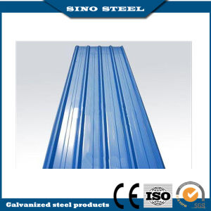Color Coated Corrugated Steel Roofing Sheet with Film pictures & photos