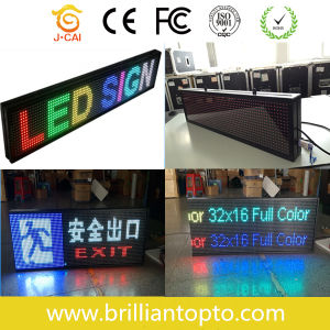 WiFi USB Control P10 Full Color Indoor Scrolling LED Sign pictures & photos