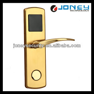 Stainless Steel 13.56MHz Card RFID Intelligent Door Lock Electronic Hotel Lock pictures & photos